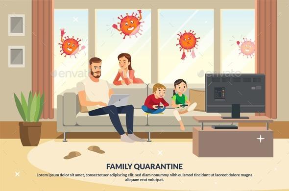 Coronavirus Trying Enter House Quarantine Family