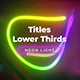 Neon Light Titles 3 - VideoHive Item for Sale