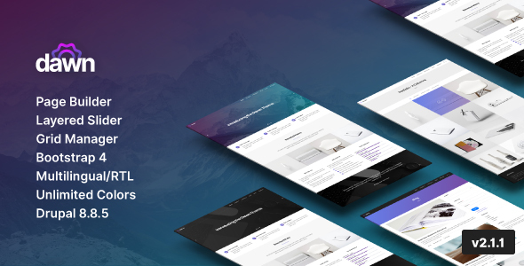 Dawn - Multipurpose Responsive Drupal 8 Theme