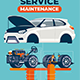Mechanical Part of Vehicle on Lift in Car Service - GraphicRiver Item for Sale