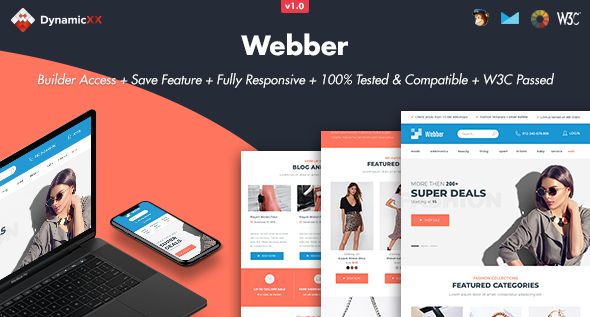 Webber - Responsive Email + Online Template Builder