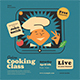 Online Cooking Class Flyer Set - GraphicRiver Item for Sale