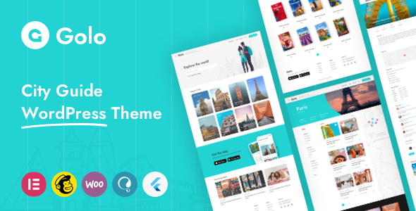 Golo – City Travel Guide WordPress Theme Preview