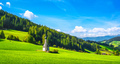 San Giovanni or St Johann in Ranui chapel, Funes Valley, Dolomites Alps, Italy. - PhotoDune Item for Sale