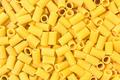 Italian Macaroni Pasta half sleeves striped raw food background or texture - PhotoDune Item for Sale