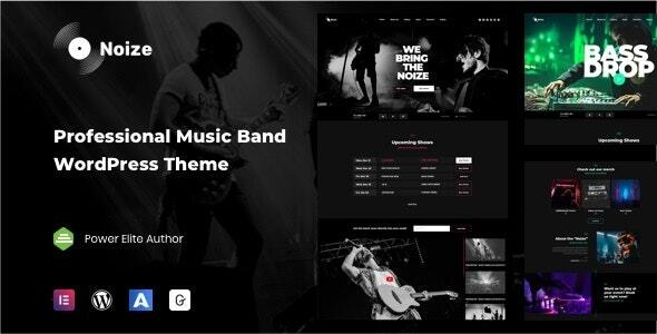 Noize – Music Industry WordPress Preview