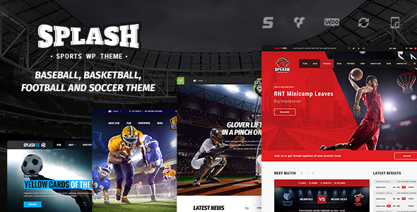 Splash - Sport Club WordPress Theme