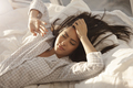 Asian Woman Waking Up - PhotoDune Item for Sale