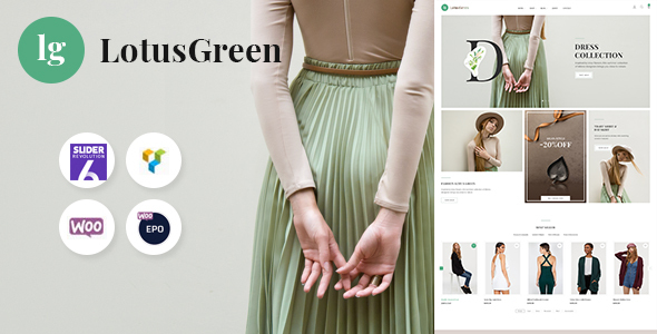 LotusGreen Fashion WooCommerce Theme Preview