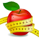 Red Apple With Measuring Tape - GraphicRiver Item for Sale
