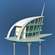 Futuristic Architecture Skyscraper #04 - 3DOcean Item for Sale