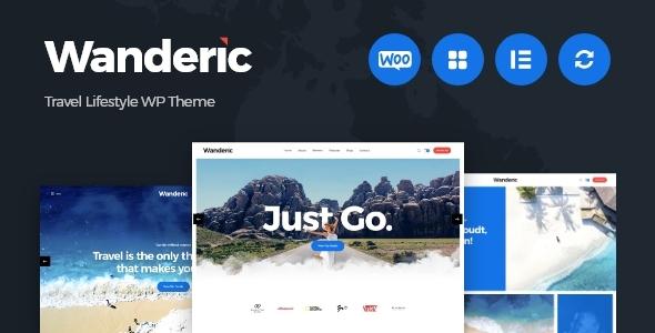 Wanderic – Travel Blog & Lifestyle WordPress Theme Preview