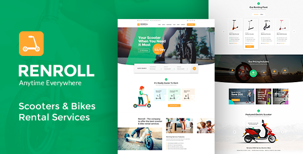 Renroll – Scooter & Bike Rentals Theme Preview