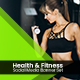 Health and Fitness Social Media Banner Set - 5 Designs - GraphicRiver Item for Sale