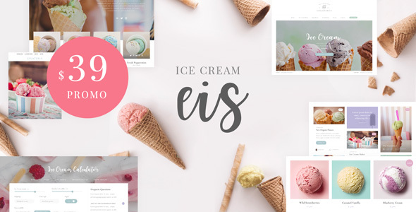 Eis – Ice Cream Shop WordPress Theme Preview