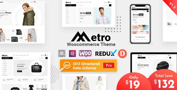 Metro – Minimal WooCommerce WordPress Theme Preview