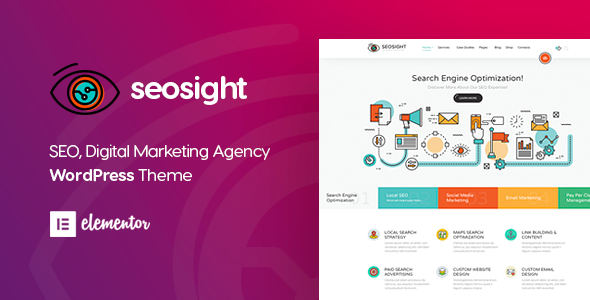 Seosight - Digital Marketing Agency WordPress Theme