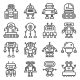Robot Icons Set - GraphicRiver Item for Sale