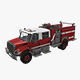 Fire Truck Red - 3DOcean Item for Sale