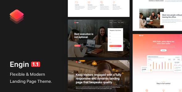 Engin – Multipurpose Landing Page WordPress Theme Preview