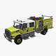 Fire Truck Yellow - 3DOcean Item for Sale