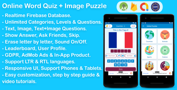 Online Word Quiz + Image Guess Puzzle Game for Android Download