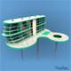 Futuristic Architecture Skyscraper #05 - 3DOcean Item for Sale