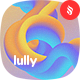 Lully - Abstract Neon Flow Shape Background Set - GraphicRiver Item for Sale