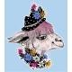 Hand Drawn Llama Alpaca Wearing a Hippie Hat - GraphicRiver Item for Sale