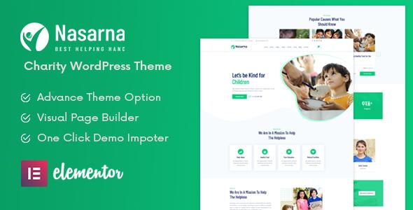 Nasarna – NonProfit Charity WordPress Theme Preview