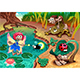 Fairy and Gnomes Playing in the Nature with Animals - GraphicRiver Item for Sale