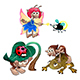 Fairy and Gnomes Playing with Animals - GraphicRiver Item for Sale
