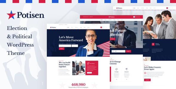 Potisen - Election & Political WordPress Theme