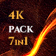Original 4K Fire Flame Pack 7in1 Loop Backgrounds - VideoHive Item for Sale