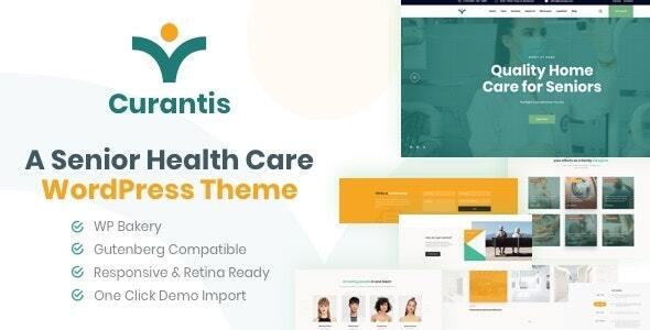 Curantis – Medical Care and Nursing WordPress Preview