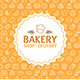 Bakery Signs Round Design Template Thin Line Icons - GraphicRiver Item for Sale