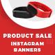 Product Sale Instagram Banner Set Template - 05 Designs - GraphicRiver Item for Sale