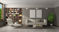 Modern living room with sofa and chaise lounge - PhotoDune Item for Sale