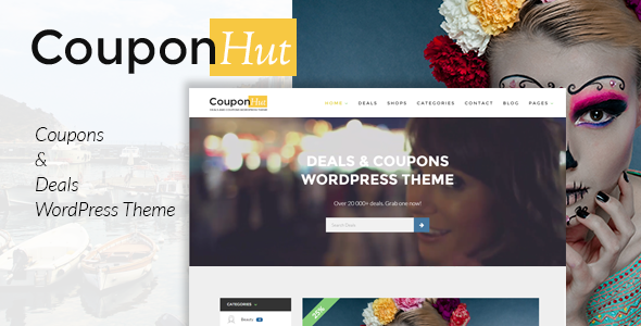 CouponHut - Coupons & Deals WordPress Theme Download