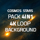 Cosmos And Stars 4in1 4K Loop Backgrounds - VideoHive Item for Sale