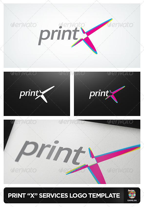 PrintX - Printing Services Logo