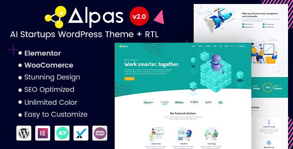 Alpas - AI Startups WordPress Theme