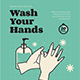 Wash Your Hands Poster & Roll Banner Campaign - GraphicRiver Item for Sale