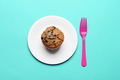 Blueberry Muffin with Paper Plate - PhotoDune Item for Sale