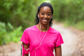 African american woman jogger portrait  - Fitness, people and healthy lifestyle - PhotoDune Item for Sale