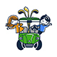 Children on a Golf Cart - GraphicRiver Item for Sale