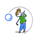 Boy Playing Golf - GraphicRiver Item for Sale