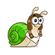 Cartoon Style Snail - GraphicRiver Item for Sale