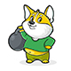 Dog with Kettlebell - GraphicRiver Item for Sale