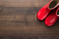 Red Gumboots On the Floor - PhotoDune Item for Sale